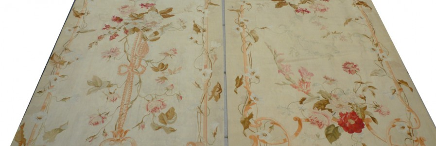 Pair of Aubusson Tapestry Panels co624