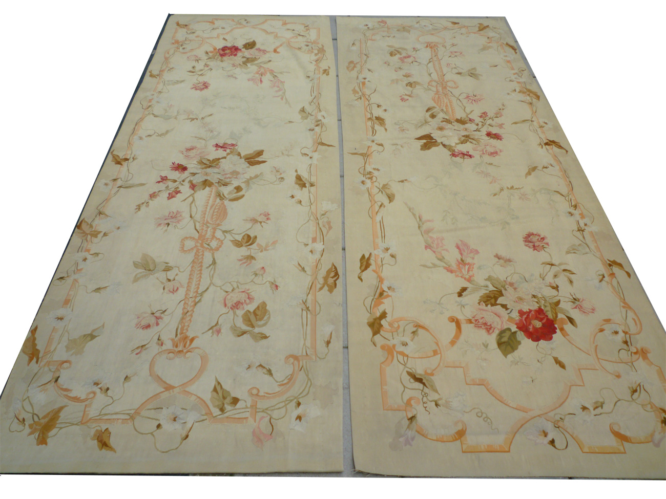 Pair Of Aubusson Tapestry Panels Co624 Zadah Antique