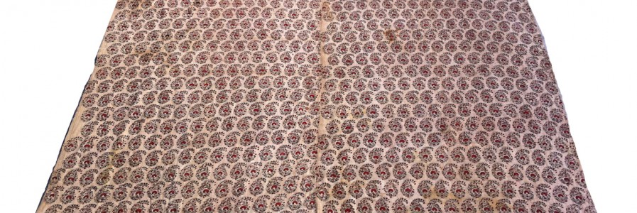Indian Cotton Resist, Dyed Boteh Design co626