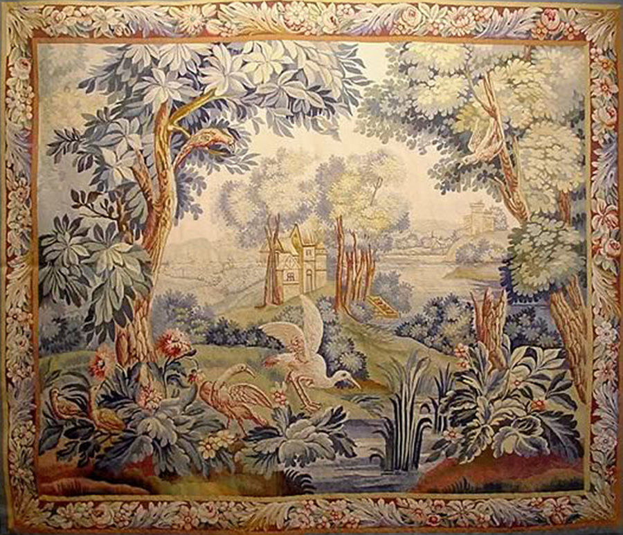 European Tapestry Zadah Antique Rugs Textiles