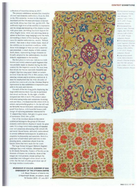 Hali Magazine Museum of Islamic Art Exhibition of Ottoman Embroidery Feature 002