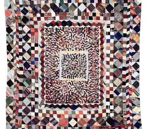 19th Century Patchwork Quilt - co522