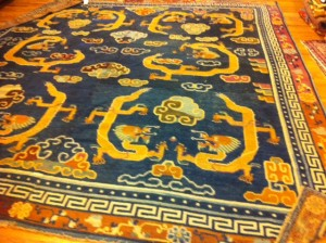 19th Century Tibetan Dragon Rug
