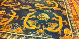19th Century Antique Tibetan Carpet