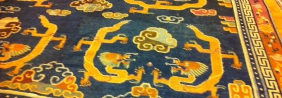 19th Century Antique Tibetan Carpet